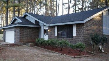 The Jonesboro, Georgia home where the boy was found hidden behind a false wall.