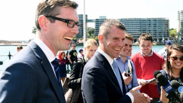 Under fire: Finance Minister Dominic Perrottet and Premier Mike Baird.
