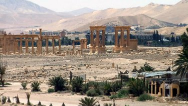 The ancient Roman city of Palmyra.