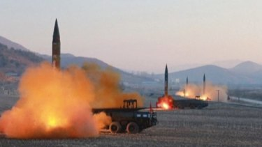 North Korea launched four missiles in an undisclosed location  this month.
