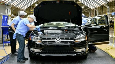 Volkswagen's shares have been pummeled is the wake of the US emissions cheating scandal.