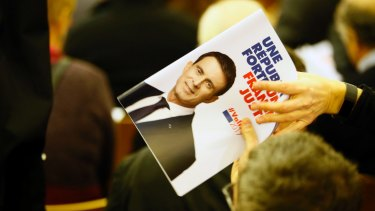 A campaign brochure for former French prime minister and left-wing candidate Manuel Valls.