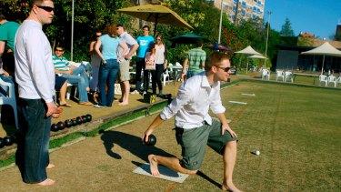 Paddington Bowling Club lawn bowls area.