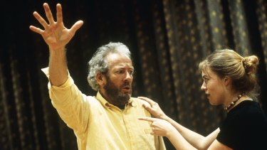 Peter Sumner, with Belinda Sculley, in Bell Shakespeare's <i>The Tempest</i>.