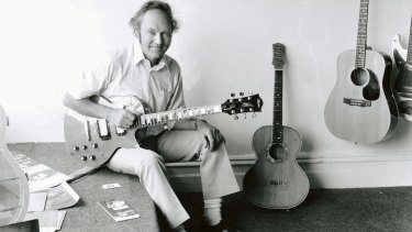 Bill May pictured in the 1980s at the Canterbury factory of Maton Guitars, the company he founded in 1946.