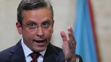 Puerto Rico Governor Alejandro Garcia Padilla.