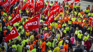 Thousands of CFMEU members are warning of rallies and work stoppages.