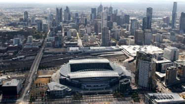 Etihad Stadium in 2009. Lord Mayor Robert Doyle says the stadium will be gone in 20 years' time.