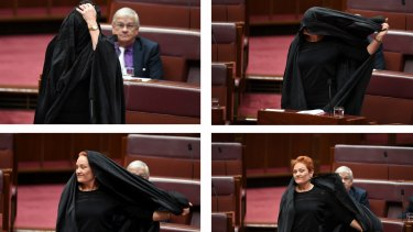 Pauline Hanson's burqa stunt shows she might be good for a laugh, but she's no serious alternative.