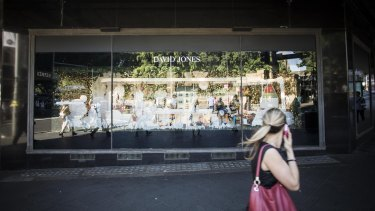 The Christmas window display at David Jones' city store has drawn the ire of many shoppers.