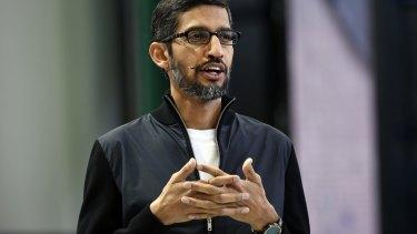 Sundar Pichai, chief executive officer of Google.