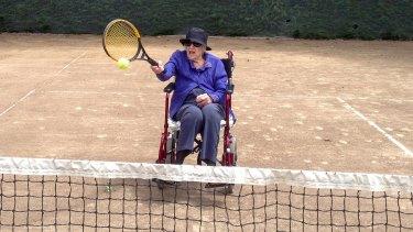 Joan Russell was a keen tennis player