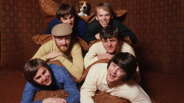 The Beach Boys were part of the gift of surf culture from the US: (clockwise from top left) Dennis Wilson, Al Jardine, Bruce Johnston, Brian Wilson, Carl Wilson and Mike Love.
