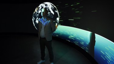 """Cartier foundation curator Thomas Delamarre: """"Exit makes the data visual in an elegant way."""""""