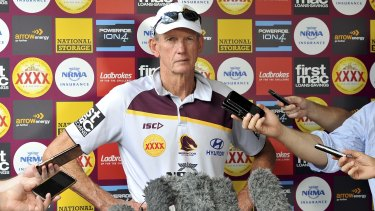 Not impressed: Brisbane coach Wayne Bennett said the game was on the brink of a diving epidemic.