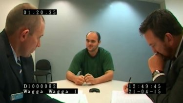 Vincent Stanford during his police interview