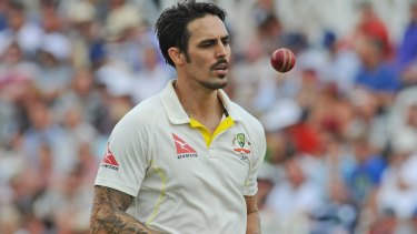 Australia's Mitchell Johnson ended the day wicketless, but one was one the better performing batsmen.