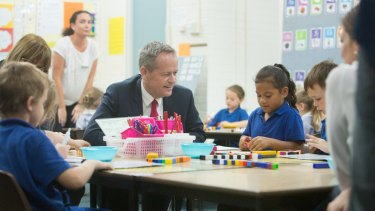 Bill Shorten at the launch of Labor's education policy on Thursday.