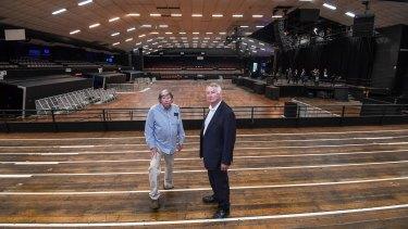 Festival Hall development: John Wren ll (left) and Chris Wren of Stadiums Pty Ltd.