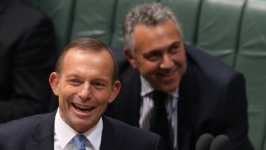 Prime Minister Tony Abbott and Treasurer Joe Hockey don't have a lot to laugh about these days but Mr Abbott says a change of leadership is not an option.