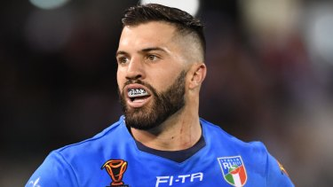 Right stuff: James Tedesco, in Italian colours at the World Cup, says Brad Fittler can be successful with the Blues.