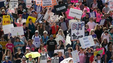 Thousands attended Saturday's Women's March in Austin, Texas.
