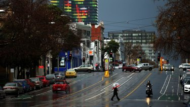 Melbourne has been lashed by rain, wringing in the third-wettest day of 2016.