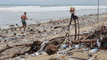 "From December 5 to 10, the local government declared a ""trash emergency"" on Kuta and Legian beaches."