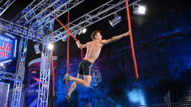 Lee Cossey in the Australian Ninja Warrior grand finale: The show was runaways success for the Nine Network.