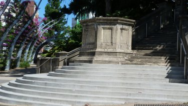 A council spokesman said the original plinth had been made of low-grade materials that had degraded over time.