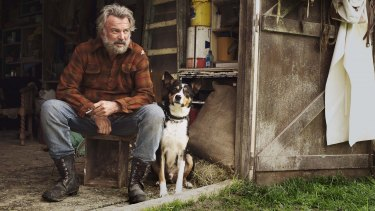Sam Neill as ''Uncle'' Hec in <i>Hunt for the Wilderpeople</i>.