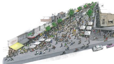 An artist's impression of the Acland Street transformation.