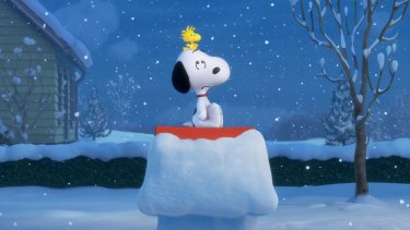 Snoopy and Woodstock in <em>Snoopy and Charlie Brown: The Peanuts Movie.</em>