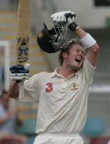 Remember when: Michael Clarke scores his first Test century in Australia in 2004, three months after a debut hundred in India.