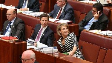 Michaelia Cash during question time at Parliament House.