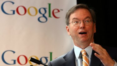 Google executive chairman Eric Schmidt.