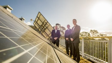 IT Power managing director Simon Troman, CIT's  Ivan Radic and Ivor Frischknecht of Australian Renewable Energy Agency.