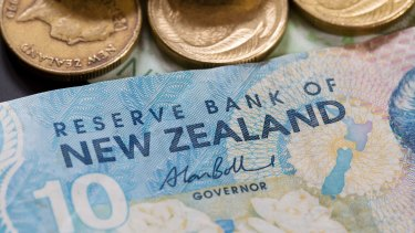 Close: In April last year, the Kiwi briefly reached 99.79 Australian cents.
