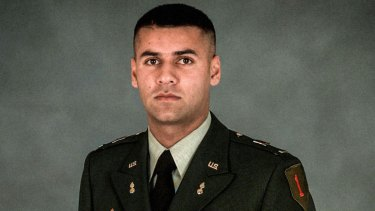 US Army Captain Humayun Khan was killed when he tried to stop two suicide bombers outside his base in Baquabah, Iraq, in June 2004.