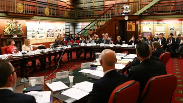 ICAC Commissioner Megan Latham giving evidence previously.