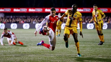 Just too good:  Arsenal ran out 2-0 winners on the night.