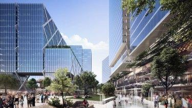 An artist's impression of Parramatta Square, part of the area's rapid development