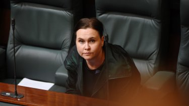 Labor's Jane Garrett cut a lonely figure in State Parliament on Tuesday.