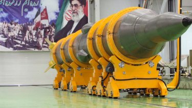 """The US says it is putting Iran """"on notice"""" over missile testing."""