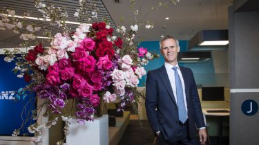 Fred Ohlsson, ANZ Bank group executive for Australia in the ANZ Chinatown branch in Sydney.
