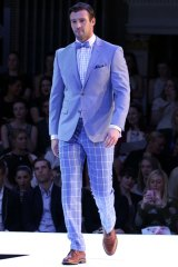 Not just about suits: Myer ambassador Kris Smith shows how to pair separates from the Dom Bagnato collection to create a distinctive race-day look.