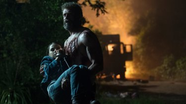 Laura Kinney (Dafne Keen) has a lot in common with Logan (Hugh Jackman) and they're both good at killing.