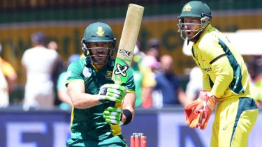 Stand-in skipper Faf du Plessis leads South Africa to victory.