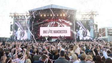 The 'One Love Manchester' benefit concert where Ariana Grande performed.