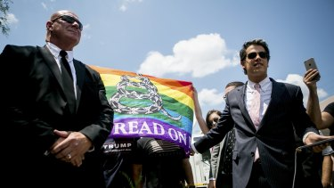 Milo Yiannopoulos, right, a gay conservative and Donald Trump supporter, may find the Republican Party's new platform confronting.